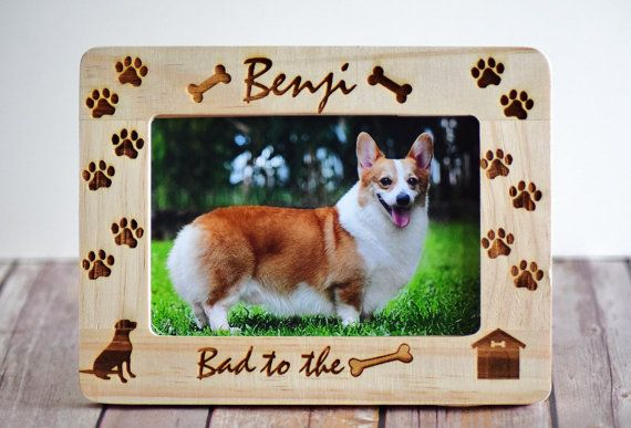 Pet Picture Frame Custom Frame Dog Picture by CustomWoodWonders