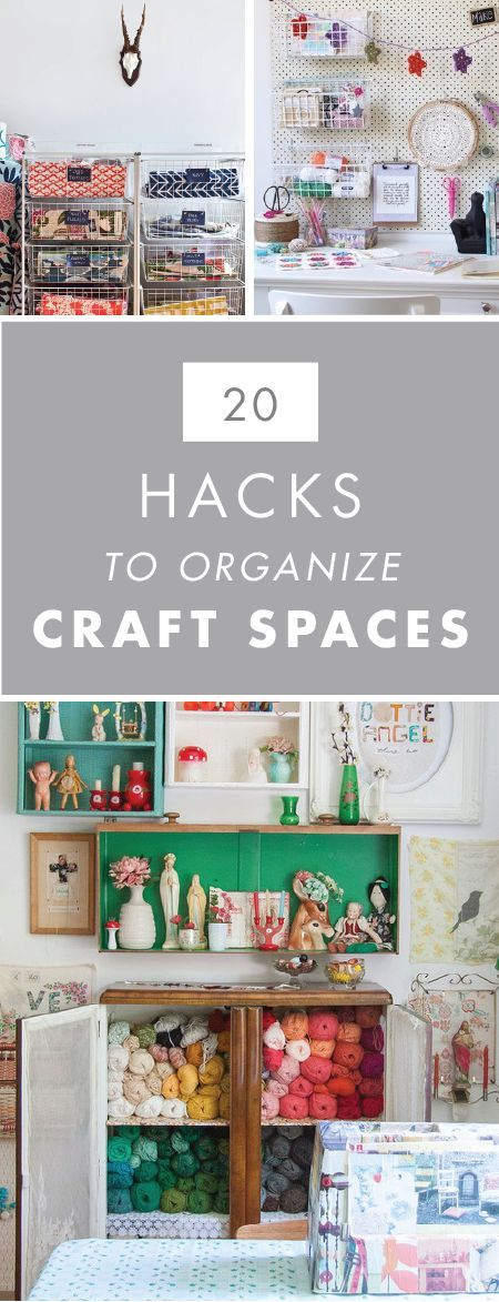 With so many paints, tools, ribbons, and craft supplies, you can never have enough inspiration when it comes to storage! When you check out these 20 Hacks to Organize your Craft Room, your creative space will be tidy and ready for crafting in no time.