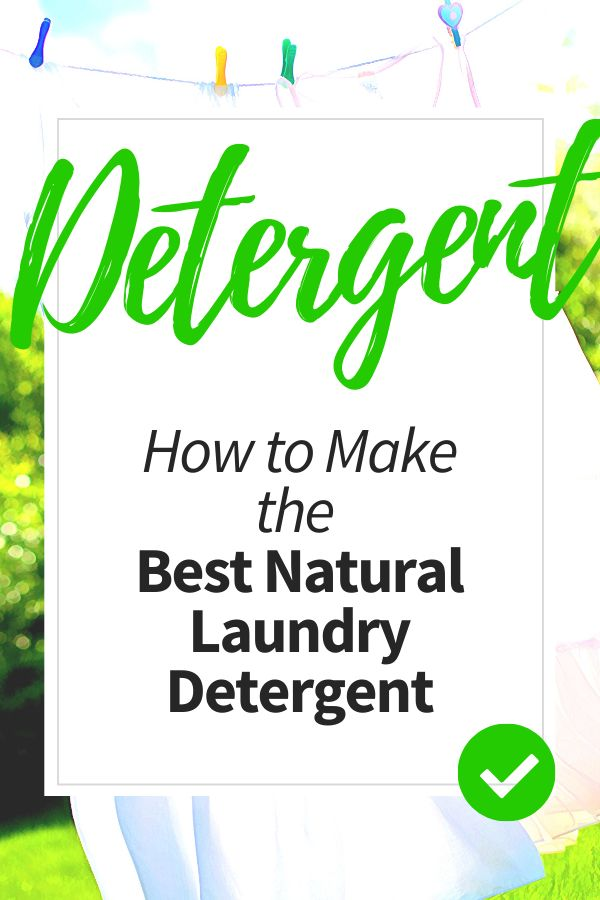 All Natural Chemical Free Laundry Detergent With Images