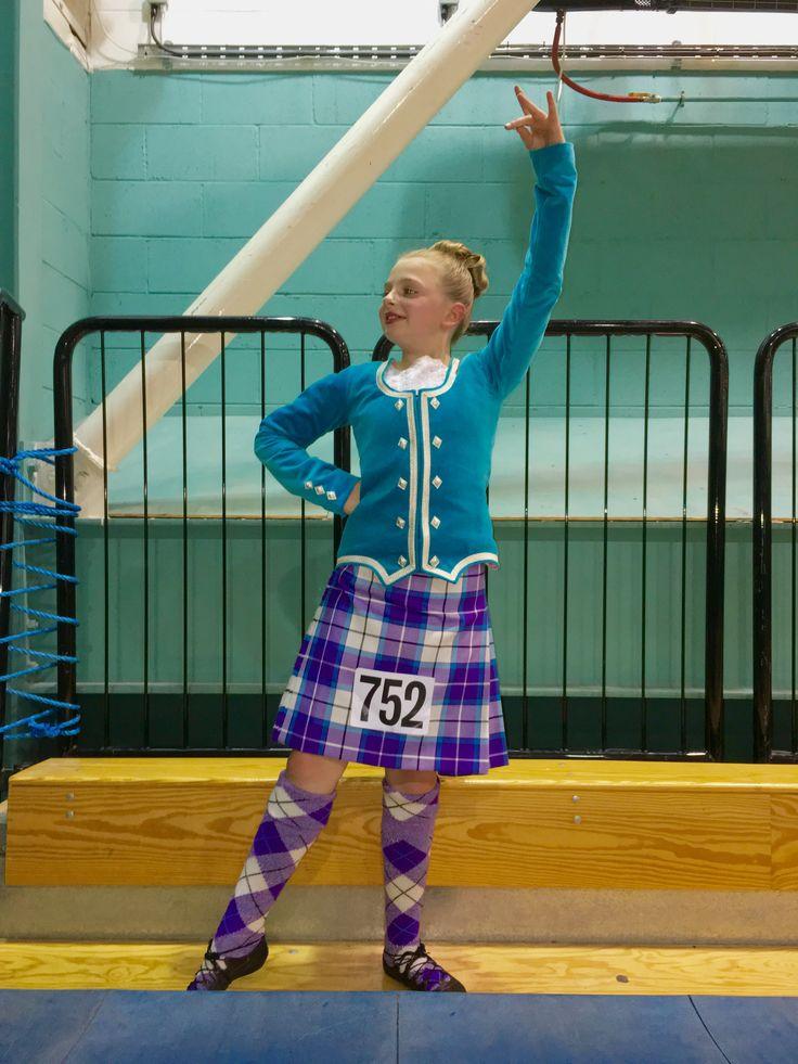Erin at Oban #highlanddancer #bonnietartan #kilts #purple
