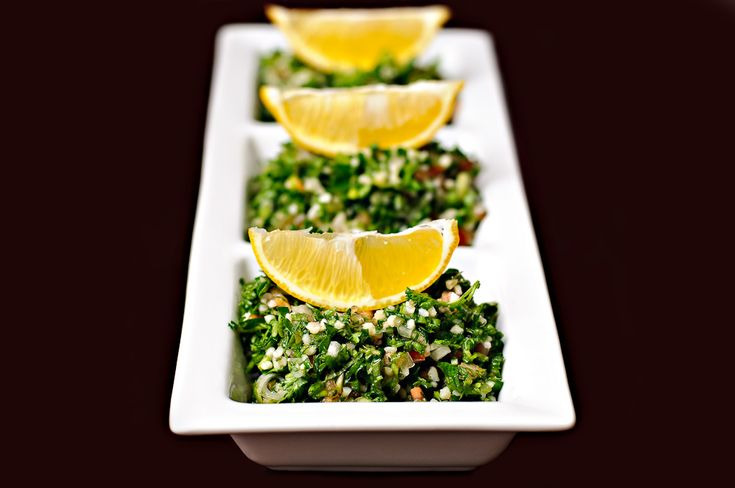 Tabbouleh is a very traditional and common salad that Lebanese people are known for. There are all kinds of Tabbouleh and you can put all sorts of things in it, with it, and on it. Most the time, you don't eat it by itself. This is because it is a very strong grainy salad.