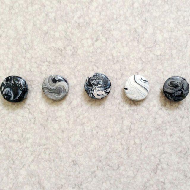 Des magnets marbrés- diy marbre