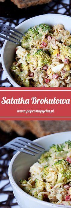 Coś dla sałatkożerców szukających przepisu na śniadanie / obiad / kolację :) Sałatka brokułowa z sosem czosnkowym! #sałatka #brokul #kurczak #poprostupycha #przepis