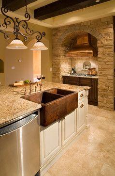 counter top with floor  Villa Sevilla - mediterranean - kitchen - orlando - Jorge Ulibarri Custom Homes