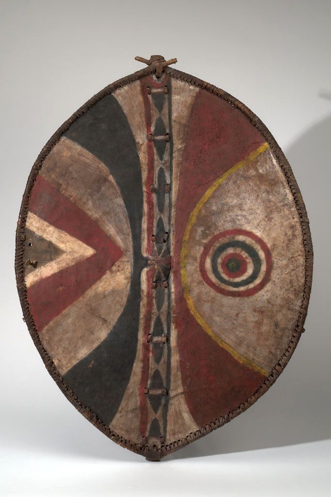 Africa Shield From The Maasai People Of Kenya Hide