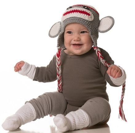 My Little Legs Sock Monkey halloween costume creation.