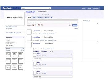 facebook templates for projects - facebook template microsoft publisher character or
