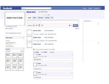 facebook profile template