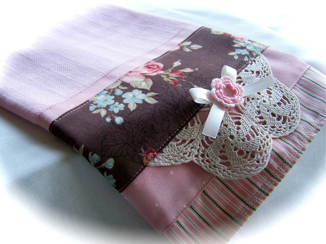 Embellished dish towel. by Created by Cath. http://www.createdbycath.com
