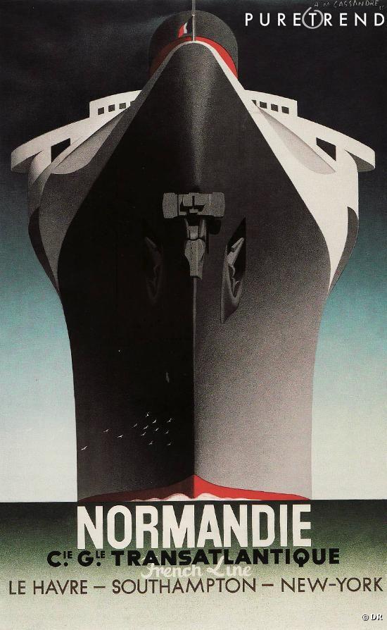 Affiche pour le paquebot Le Normandie, créée en 1935