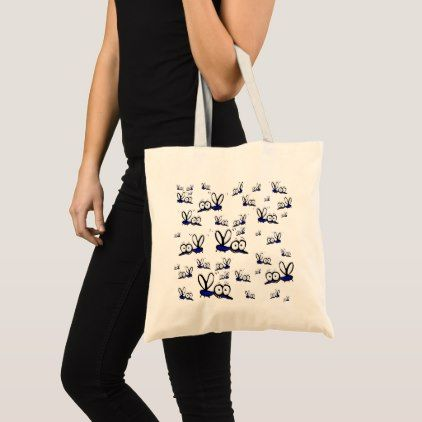 welcome summer! Funny cartoon mosquitoes pattern Tote Bag - pattern sample design template diy cyo customize