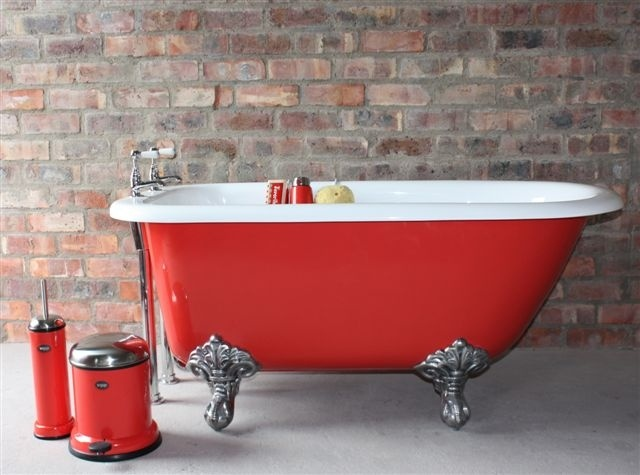 """Our littlest bath, The Paddington, in """"Rising Red""""!"""