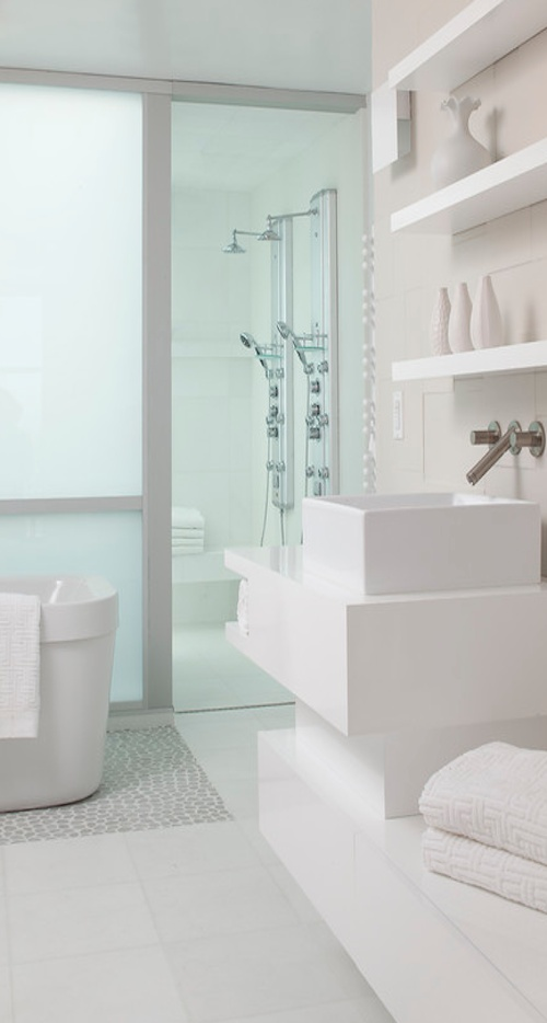 Pic Of White on white bathrooms remain popular because they look clean For your inspiration here are luxurious sleek and clean all white bathroom ideas