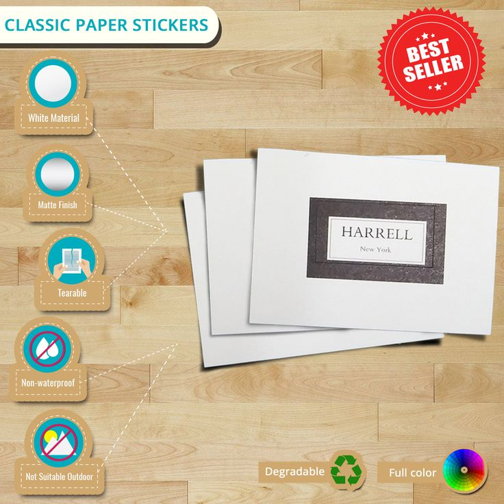 #Infographic of the Day: #ClassicPaperStickers Impress your clients with these luxurious #stickers for as low as $82 only! #labels #customstickers