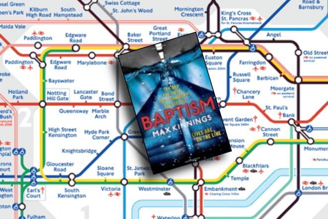 "LONDON - thriller to transport you to the Underground ""Baptism"" by Max Kinnings http://www.tripfiction.com/baptism-thriller-set-in-london/"