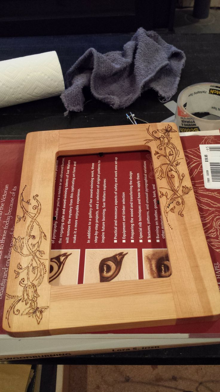 29 best picture frame pyrography images on pinterest firewood first frame i burned jeuxipadfo Image collections