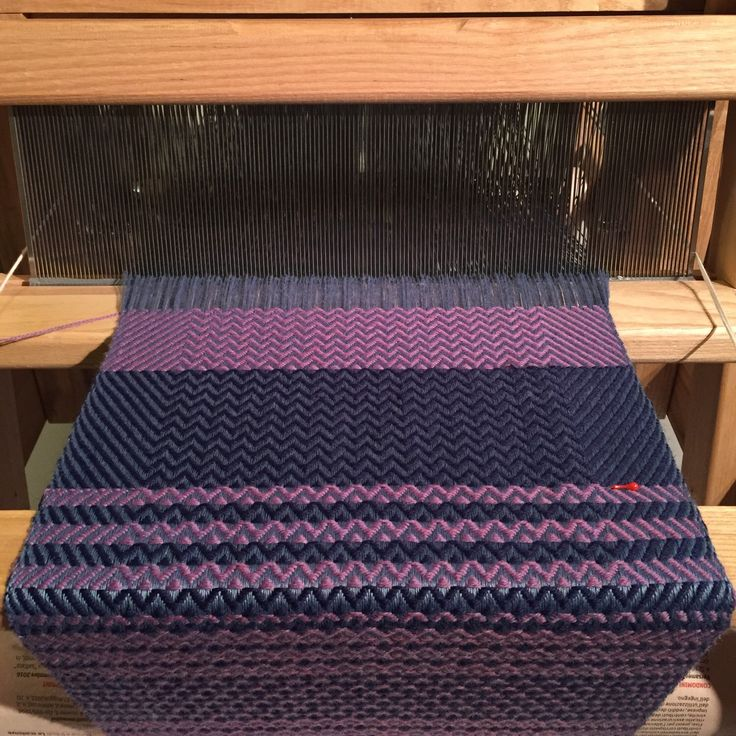 Do you like purple? Blue and purple are mixing together in this lovely scarf. Hand woven scarf made with fine wool on a table loom. This handmade infinity scarf will be a perfect gift for any lady! A simple combination of twill creates the unique design.  #purple #textiledesign #weaving #handwoven #scarf