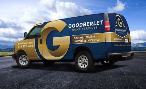 The best vehicle wraps use simple, easy-to-read graphics, as this wrap for Goodberlet Home Services shows. http://graphicd-signs.com/work/goodberlet-home-services/ #truckwraps #advertising #design #graphicdesign #vehiclewraps #besttruckwraps #bestvehiclewraps