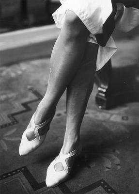 Rubber beach shoes, 1931.