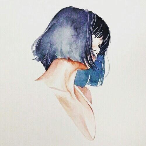 Pretty blue hair tumblr