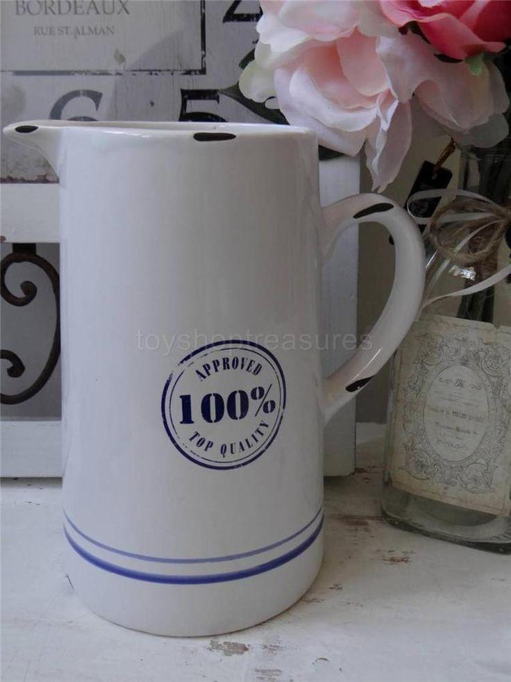 Ceramic JUG - Water   - French Provincial  Beach - Coastal - Drink Server