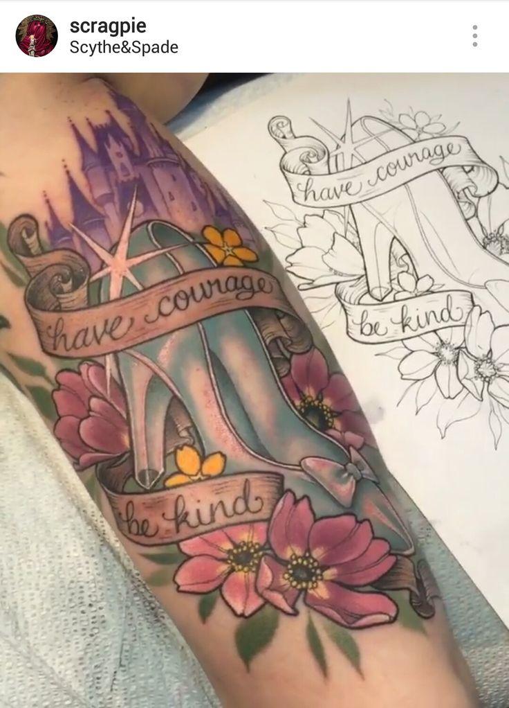Cinderella tattoo by @scragpie