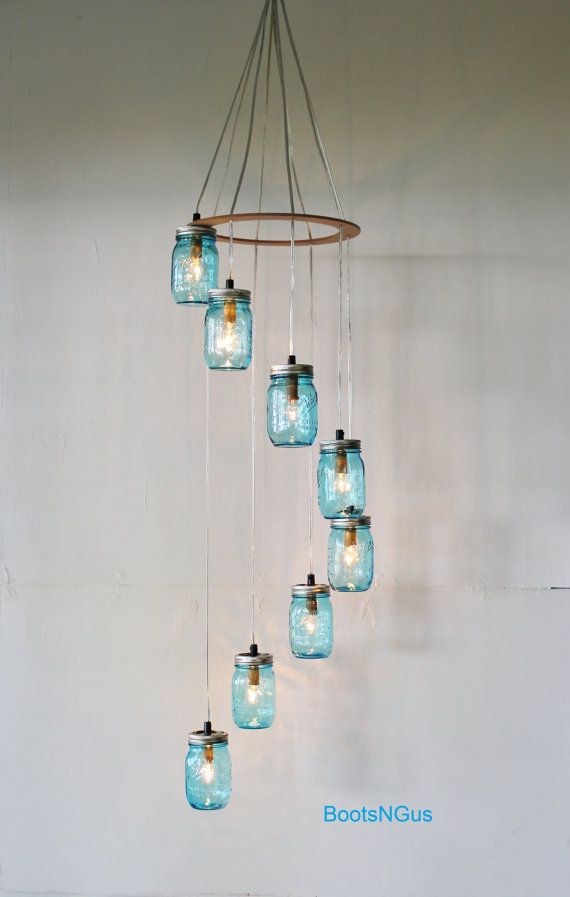 Hey, I found this really awesome Etsy listing at http://www.etsy.com/listing/160515123/raindrops-mason-jar-chandelier-upcycled