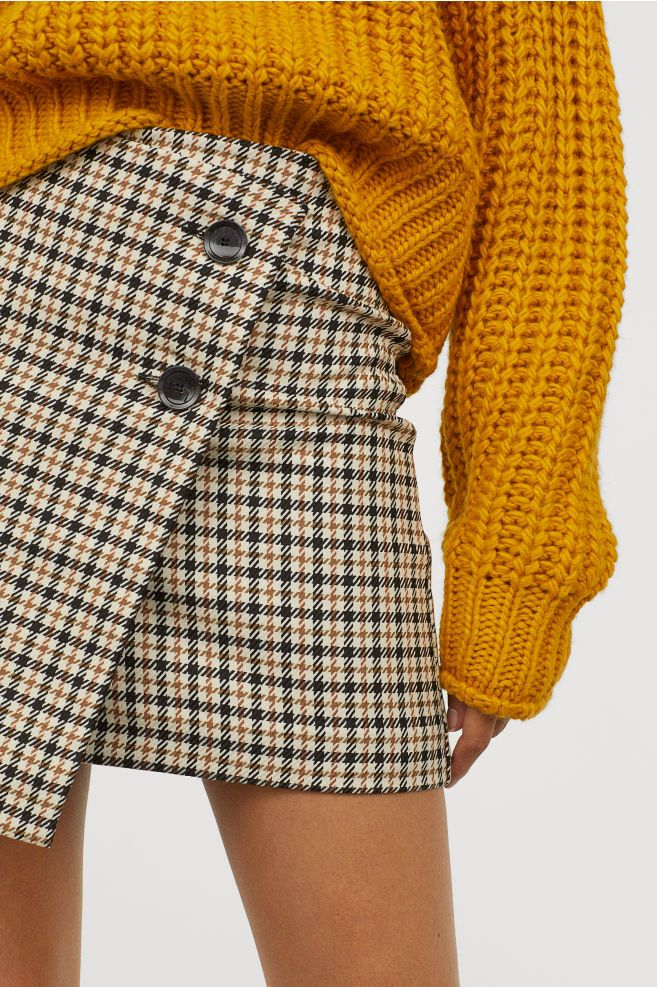 7b9f57ea52 Checked Skirt in 2019 | Style | Houndstooth skirt, Skirts, Houndstooth