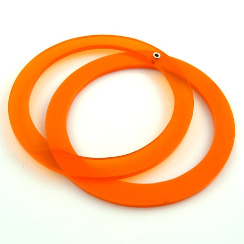 Orange Perspex Bangle - Niamh Spain