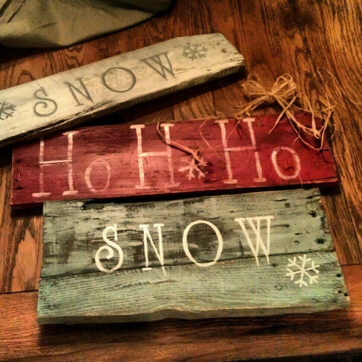 Pallet Sign ~ Pallet creations for the holidays made by me!