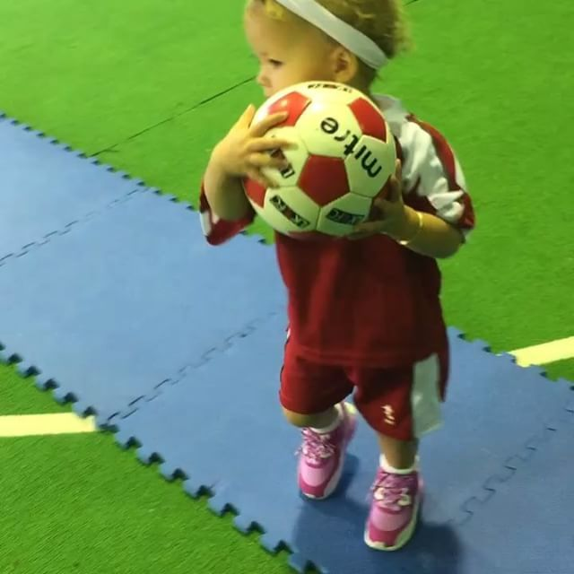 ⚽️ Soccer Tuesdays ⚽️ If at first you don't succeed, keep kicking or, just stop. #soccersuperstar #inthemaking #poppydoessoccer