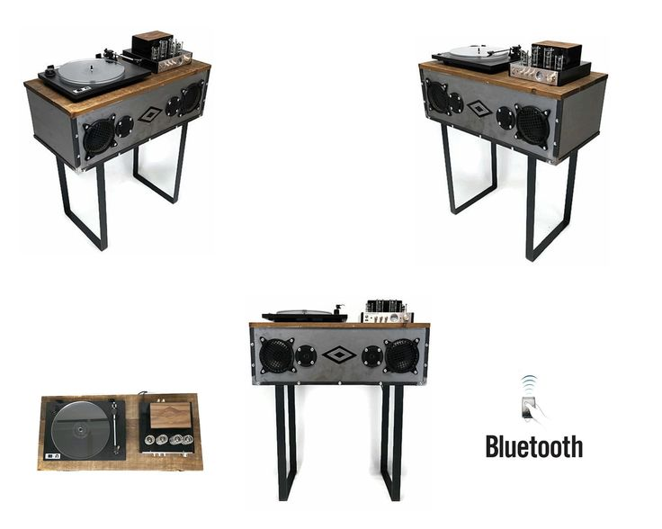 SOLD OUT** Mini PREMIER™ VintedgeCo™ INDUSTRIAL Turntable Record Player  Console Speaker
