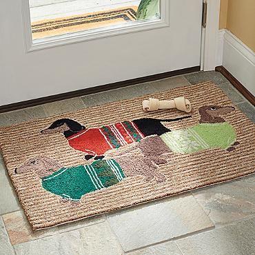 Cozy Dachshund Entry Mat