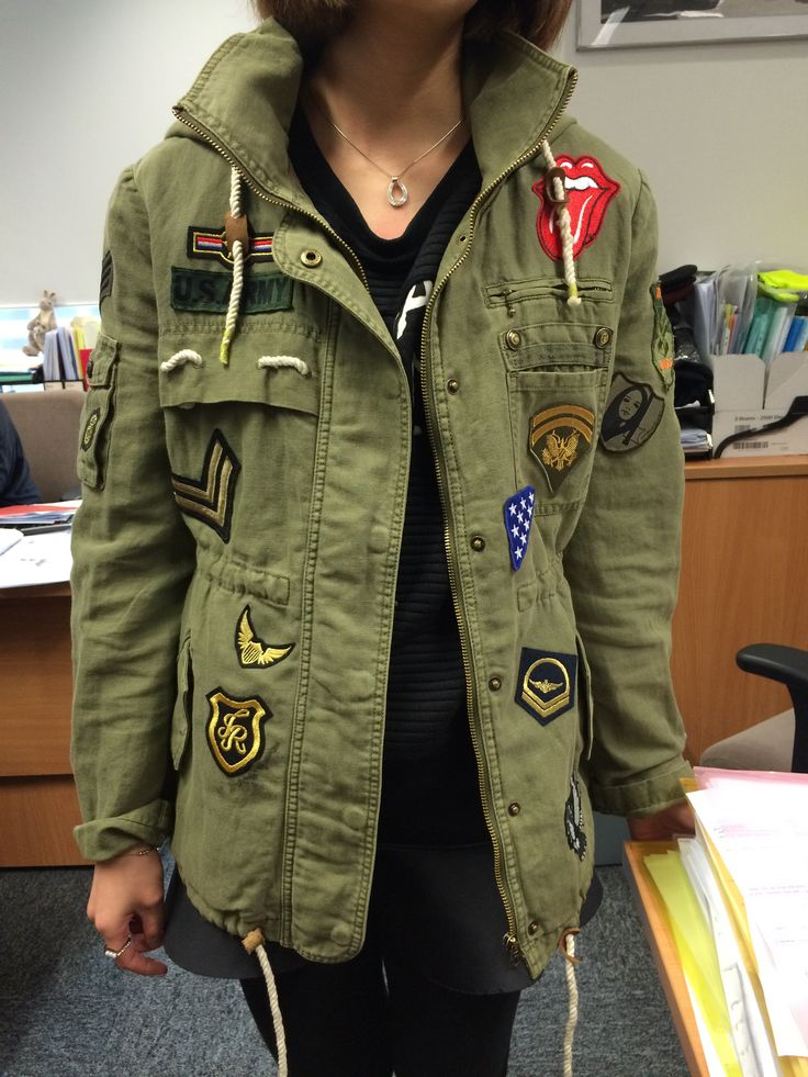 My Diy Badges And Patches Military Jacket Look