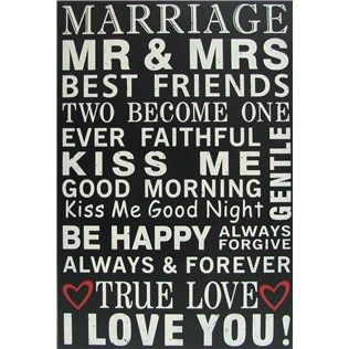Celebrate being Mr. and Mrs. with this wonderful sign. | Shop Hobby Lobby