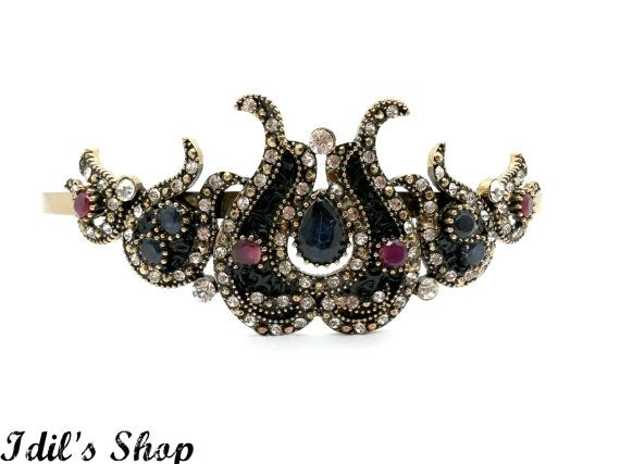 Turkish Ottoman Style Vintage Inspired Bridal Tiara by IdilsShop