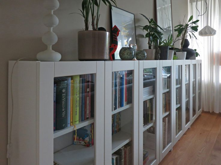 BILLY bookcases with GRYTNÄS glass doors | IKEA Hackers