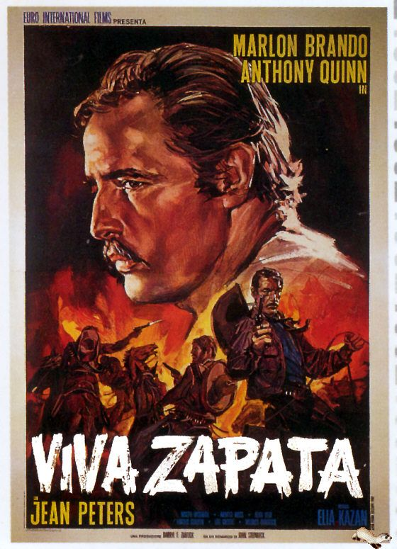 VIVA ZAPATA (1952) - Marlon Brando - Anthony Quinn - Jean Peters - Directed by Elia Kazan - 20th Century-Fox - Movie Poster.