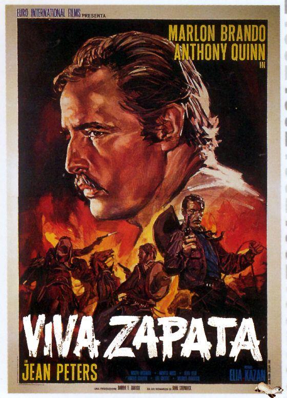 VIVA ZAPATA (1952) - Marlon Brando - Anthony Quinn - Jean Peters - Directed by Elia Kazan - 20th Century-Fox - Movie Poster.