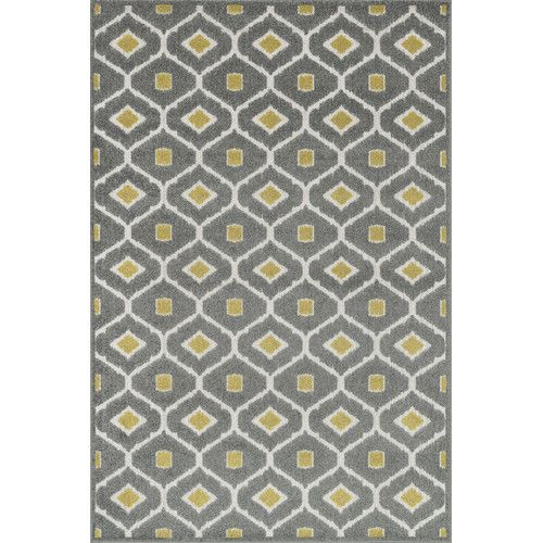 Found it at Wayfair - Clarabella Grey/Citron Outdoor Area Rug