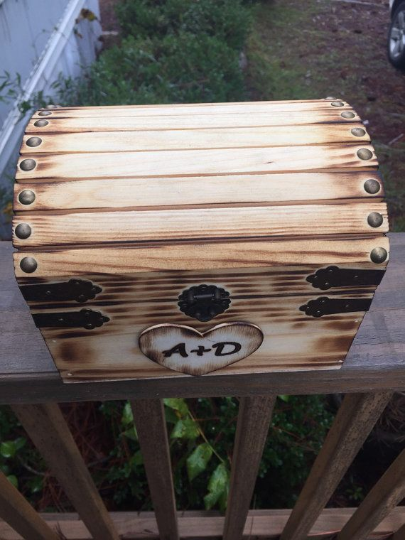Honeymoon Fund Chest  Small Wooden Chest  by CapellWoodWorks