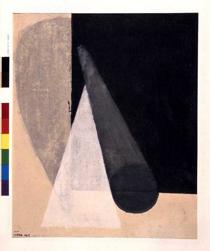 Koshiro Onchi  Poème No. 7, 1949  woodblock print
