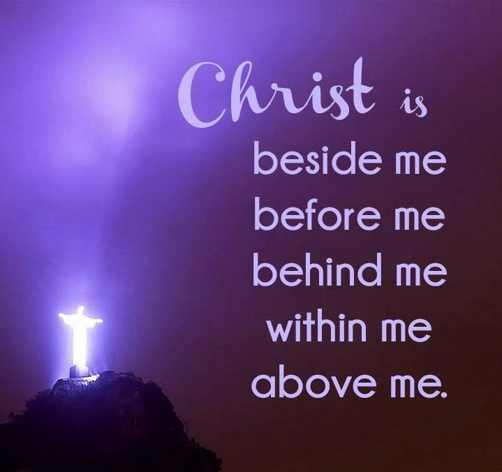 quotchrist is beside me before me behind me within me and