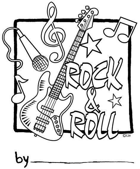 Resultado de imagen de rock and roll para colorear | we | Rock, Rock ...