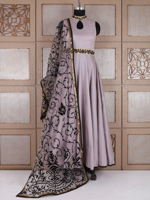 Shop Grey silk amazing party wear anarkali suit online from G3fashion India. Brand - G3, Product code - G3-WSS21651, Price - 5645, Color - Grey, Fabric - Silk,