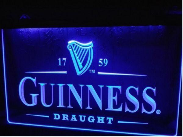 Guinness Draught Beer Pub Vintage Gift Home Bar Decor Led Light Sign Neon