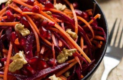 Σαλάτα με παντζάρια, καρότο και ρόδι