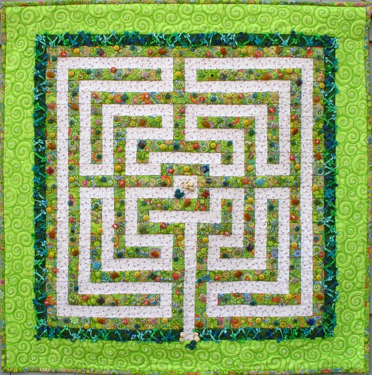 Square labyrinth design like the one featured in the book.