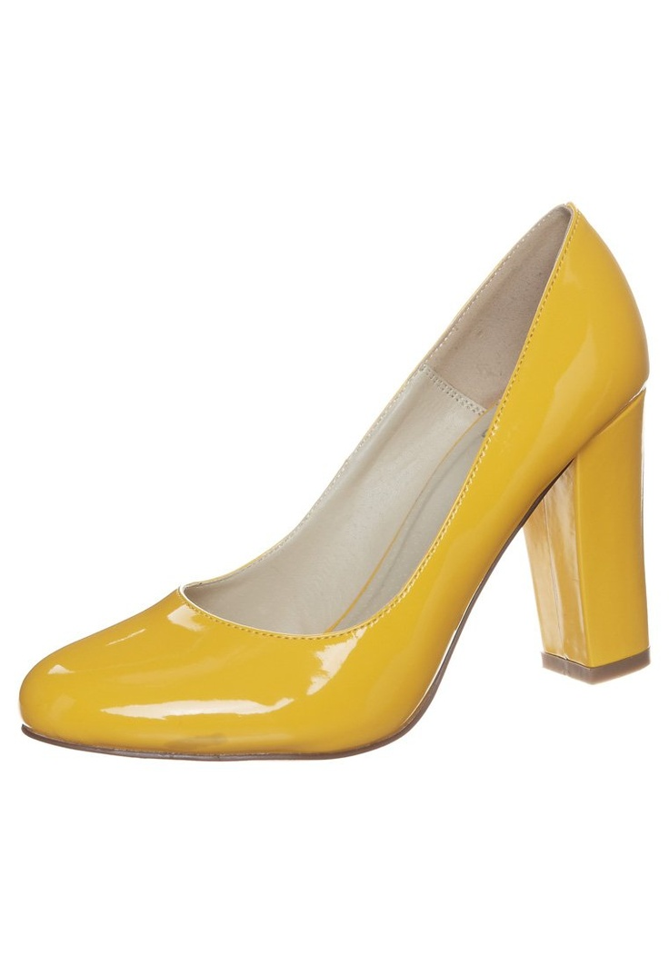 Even - Szpilki - żółty (120)