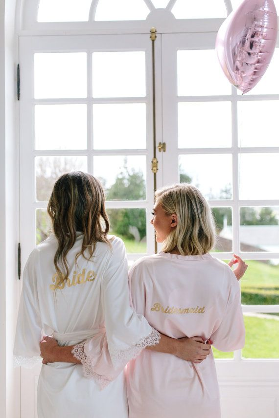 Bride and bridesmaid getting ready photo idea to steal  | mysweetengagement.com